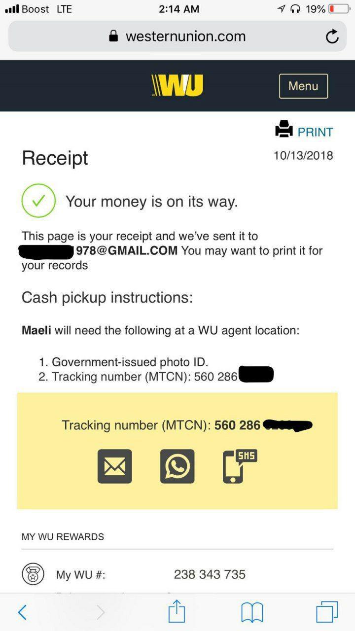 Western Union Hacked (clean) Transfer