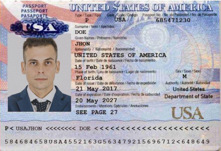 USA ID CARD